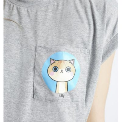 camiseta gris-gato lily Compañía Fantástica