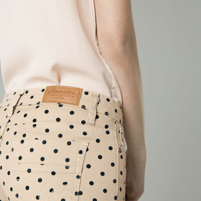 Beige Dotty Jeans