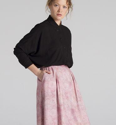 falda circulos rosa Blu Velt
