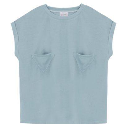 camiseta azul bolsillos triangulos Compañía Fantástica