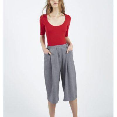 pantalón coulotte gris bolsillos Compañía Fantástica