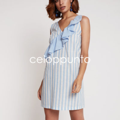 vestido-rayas-volante-azul-celop-punto