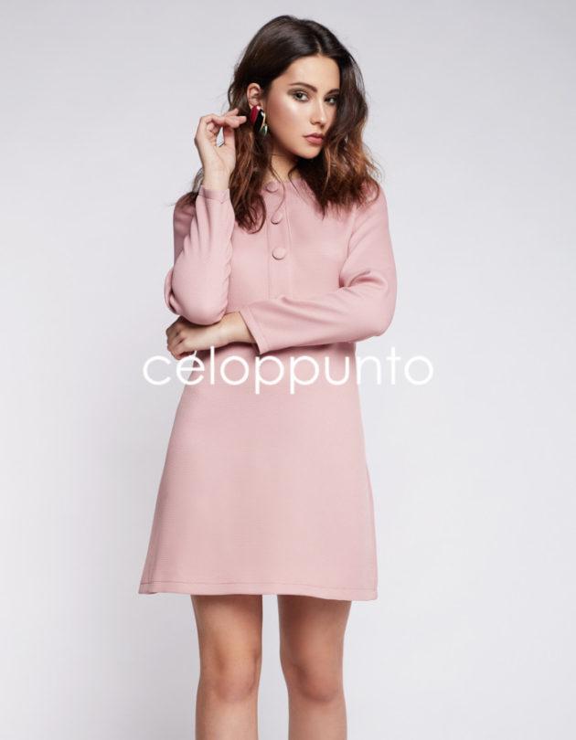 vestido-corte-botones-rosa-celop-punto