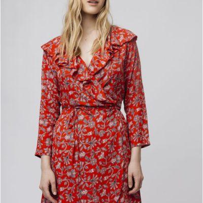 vestido-cruzado-rojo-flores-rosas-compañia-fantastica