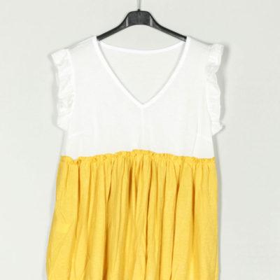 blusa-bicolor-volantes-amarillo-una-caja-de-botones