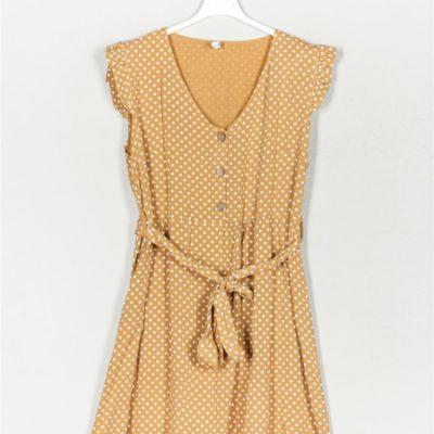 vestido-lunares-botones-mostaza-una-caja-de-botones