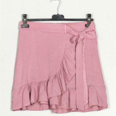 minifalda-fluida-volantes-rosa-palo-una-caja-de-botones